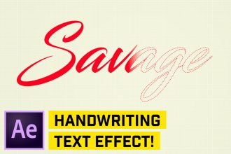 Handwriting Animation After Effects CC